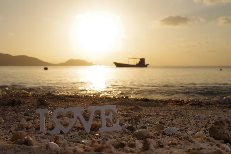 LOVEと砂浜
